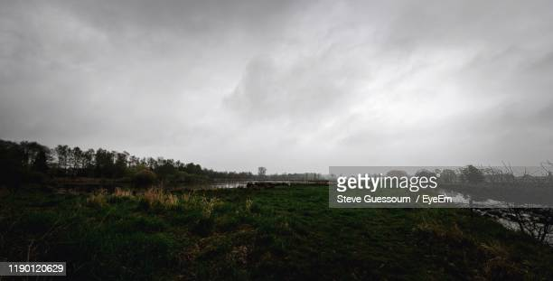 scenic view of field against sky - steve guessoum stockfoto's en -beelden