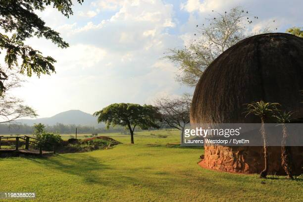 scenic view of field against sky - swaziland stock pictures, royalty-free photos & images