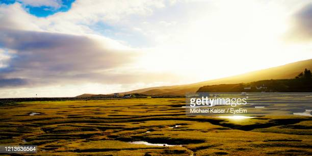 scenic view of field against sky - republic of ireland stock pictures, royalty-free photos & images
