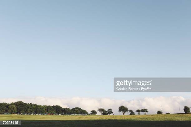scenic view of field against sky - bortes stock photos and pictures