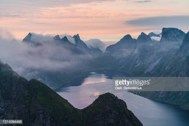 scenic view of fjord in norway - scandinavia stock pictures, royalty-free photos & images