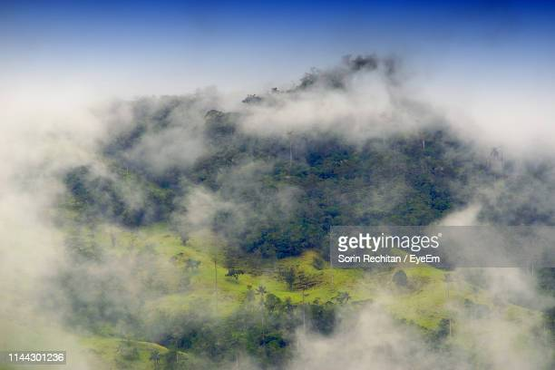scenic view of foggy weather against sky - rainy season stock pictures, royalty-free photos & images
