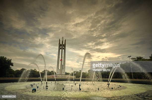 Scenic View Of Fountain In Front Of Monument Against Sky
