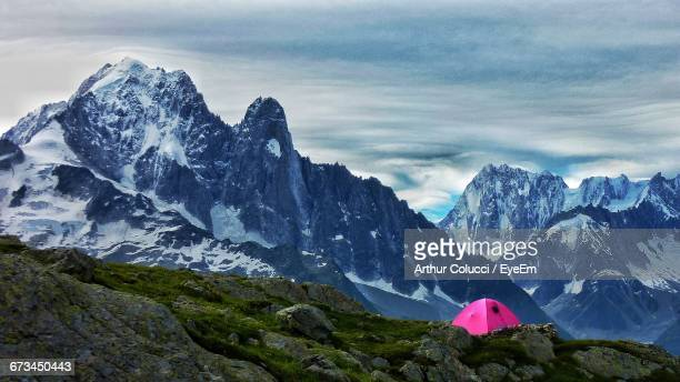Scenic View Of French Alps Against Sky