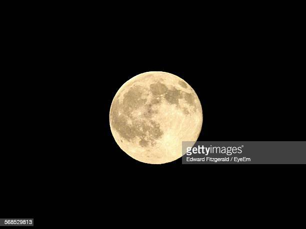 Scenic View Of Full Moon Against Clear Sky