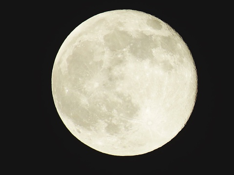 Scenic View Of Full Moon At Night - gettyimageskorea