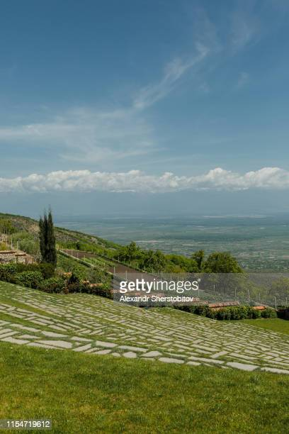 Scenic view of garden in monastery in Signagi, Georgia