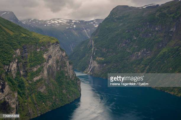 Scenic View Of Geiranger Fjord