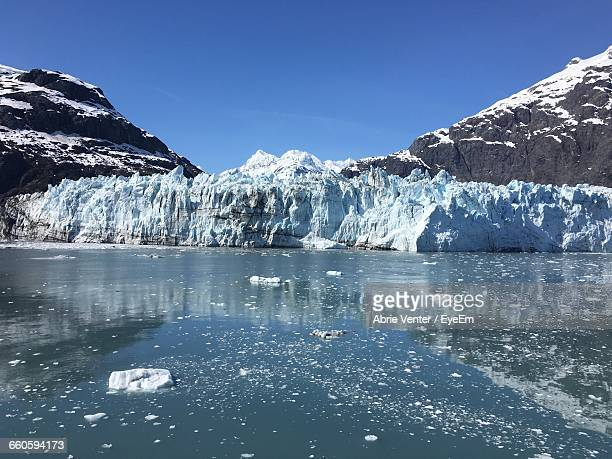 Scenic View Of Glacier Bay National Park Against Clear Sky