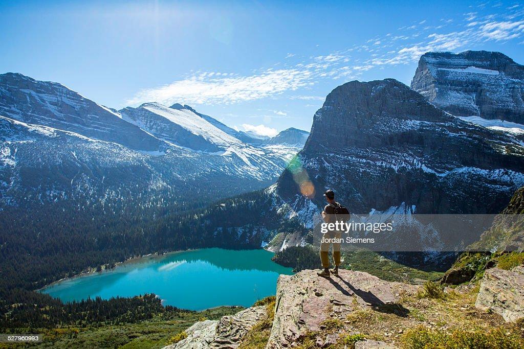 Scenic view of Glacier National Park. : Stock Photo