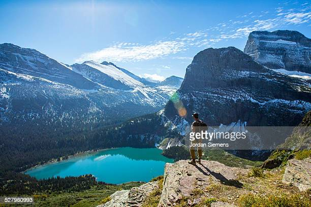 Scenic view of Glacier National Park.