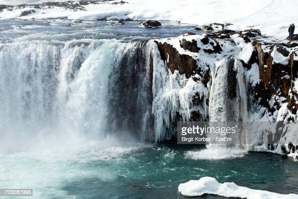 Scenic View Of Godafoss Waterfall