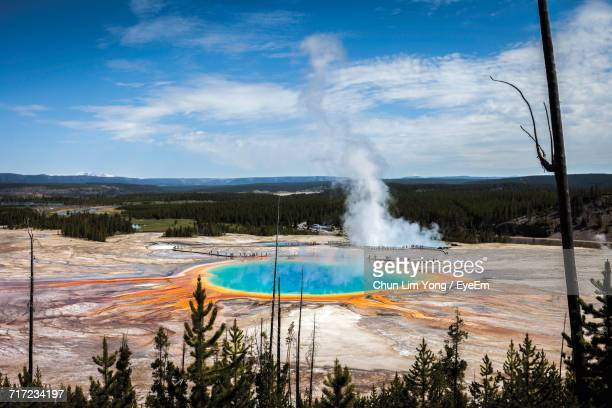 Scenic View Of Grand Prismatic Spring