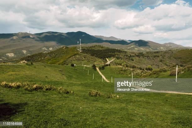 Scenic view of green hills in Georgia