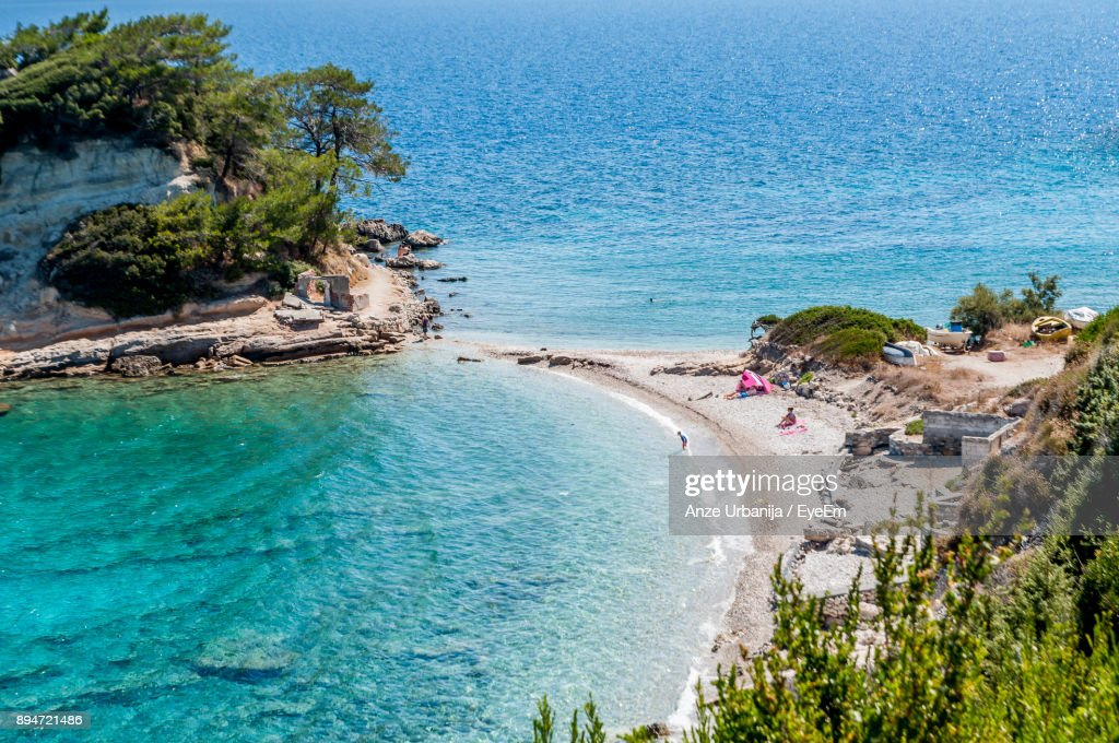 Scenic View Of Islands By Sea : Stock Photo