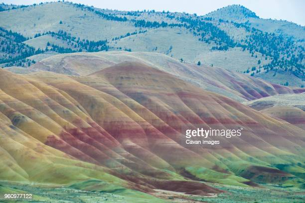 scenic view of john day fossil beds national park - painted hills stock pictures, royalty-free photos & images