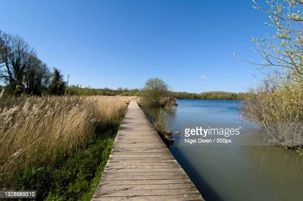 scenic view of lake against clear blue sky,united kingdom,uk - nigel owen stock pictures, royalty-free photos & images