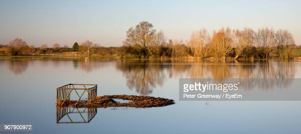 scenic view of lake against clear sky - bicester village stock pictures, royalty-free photos & images