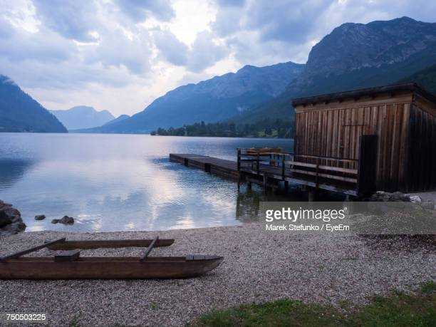 scenic view of lake against mountains - marek stefunko stockfoto's en -beelden