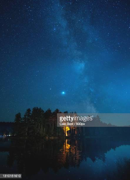 scenic view of lake against sky at night,algonquin park,canada - ontario canada stock pictures, royalty-free photos & images