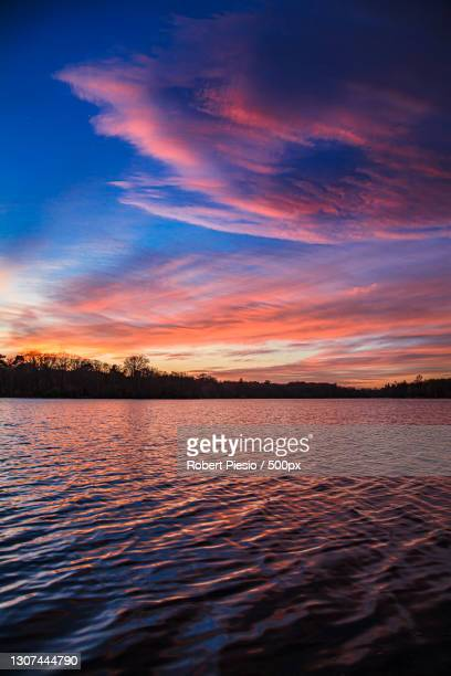 scenic view of lake against sky during sunset,windsor great park,united kingdom,uk - windsor england stock pictures, royalty-free photos & images