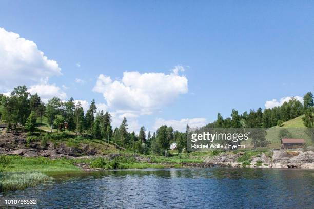 scenic view of lake against sky - rachel wolfe stock pictures, royalty-free photos & images