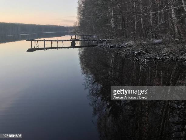 scenic view of lake against sky - antonov stock pictures, royalty-free photos & images