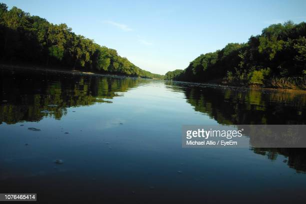 scenic view of lake against sky - indiana stock pictures, royalty-free photos & images