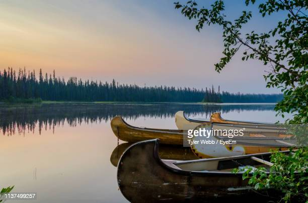 scenic view of lake against sky - british columbia stock pictures, royalty-free photos & images