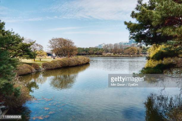 scenic view of lake against sky - goyang stock pictures, royalty-free photos & images