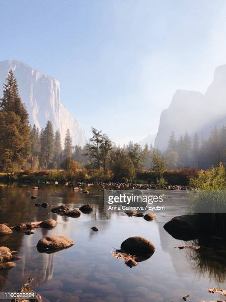 scenic view of lake against sky - central california stock pictures, royalty-free photos & images