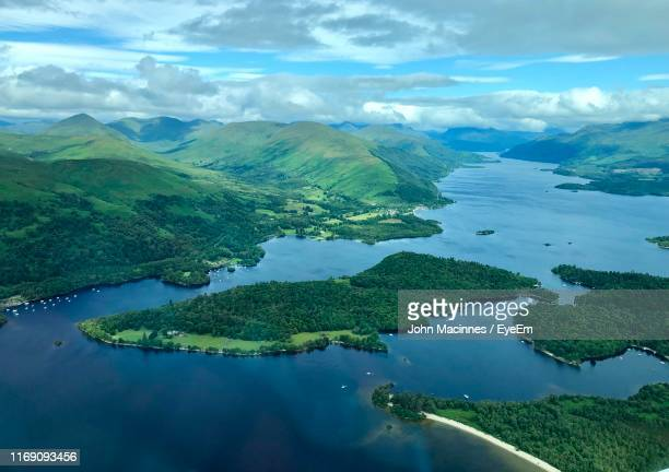 scenic view of lake against sky - lake stock pictures, royalty-free photos & images