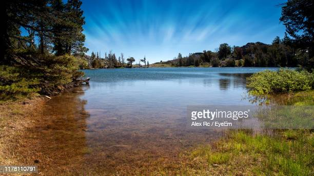 scenic view of lake against sky - carson california stock pictures, royalty-free photos & images