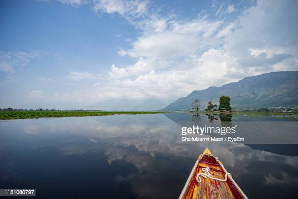 scenic view of lake against sky - shaifulzamri stock pictures, royalty-free photos & images