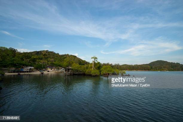 scenic view of lake against sky - shaifulzamri eyeem stock pictures, royalty-free photos & images