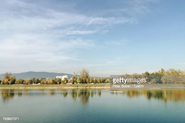 scenic view of lake against sky - boban stock pictures, royalty-free photos & images
