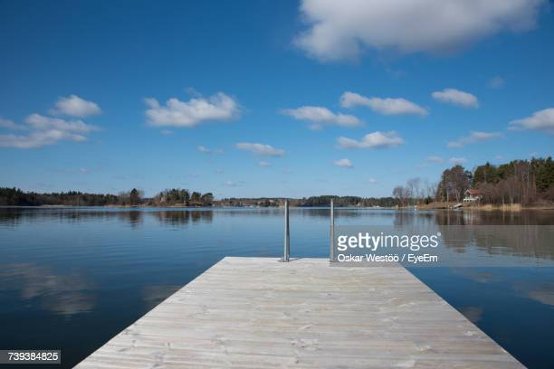 scenic view of lake against sky - oskar stock pictures, royalty-free photos & images