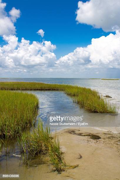 scenic view of lake against sky - stutterheim stock photos and pictures