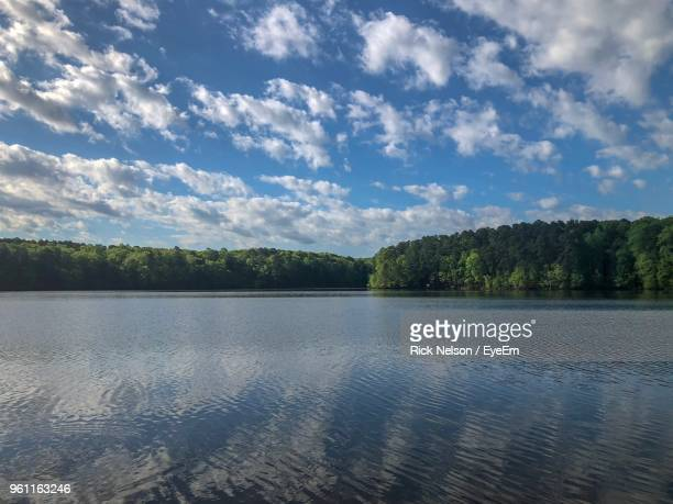 scenic view of lake against sky - raleigh north carolina stock pictures, royalty-free photos & images