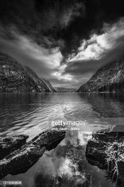 scenic view of lake against sky,germany - andy dauer stock pictures, royalty-free photos & images