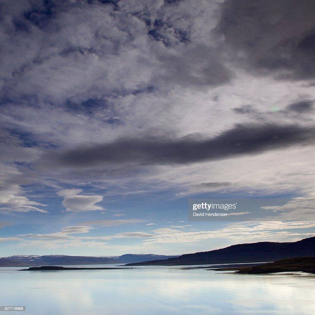 Scenic view of lake and clouds : Foto de stock
