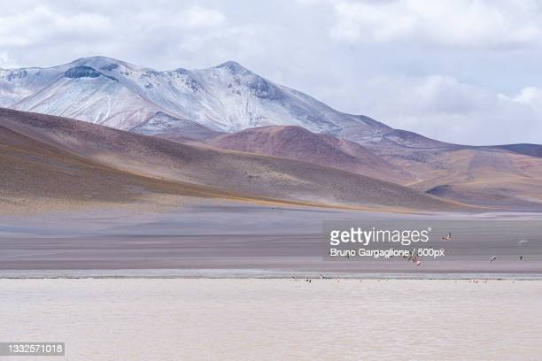 scenic view of lake and mountains against sky,potosi department,bolivia - potosí potosí department stock pictures, royalty-free photos & images