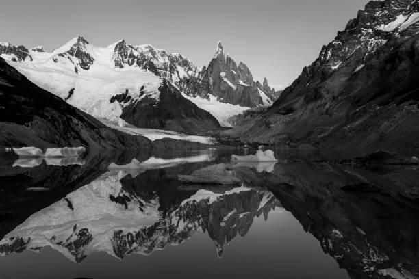 Scenic view of lake and snowcapped mountains against sky,El Chalten,Santa Cruz,Argentina