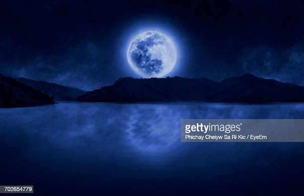 Scenic View Of Lake At Night