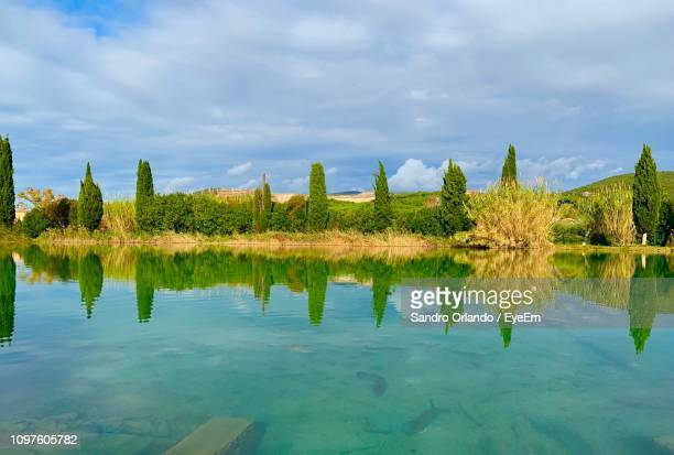 scenic view of lake by trees against sky - special:whatlinkshere/file:lucerne_circle,_orlando,_fl.jpg stock pictures, royalty-free photos & images