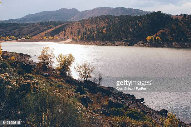 scenic view of lake - fort collins stock pictures, royalty-free photos & images