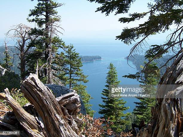 Scenic View Of Lake Tahoe Against Sky
