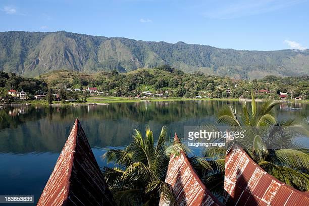Scenic view of lake toba samosir in Sumatra, Indonesia