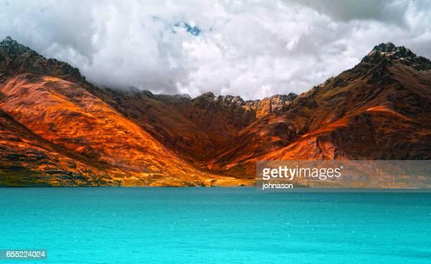 Scenic view of Lake  Wakatipu, New Zealand