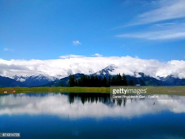Scenic View Of Lake Zell By Mountains Against Sky